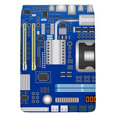 Classic Blue Computer Mainboard Flap Covers (s)  by BangZart