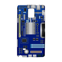 Classic Blue Computer Mainboard Samsung Galaxy Note 4 Hardshell Case by BangZart