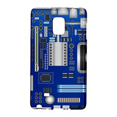 Classic Blue Computer Mainboard Galaxy Note Edge by BangZart