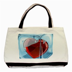 Heart In Ice Cube Basic Tote Bag by BangZart