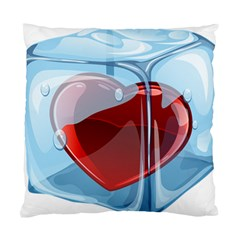 Heart In Ice Cube Standard Cushion Case (one Side) by BangZart