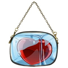Heart In Ice Cube Chain Purses (two Sides)