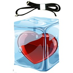 Heart In Ice Cube Shoulder Sling Bags