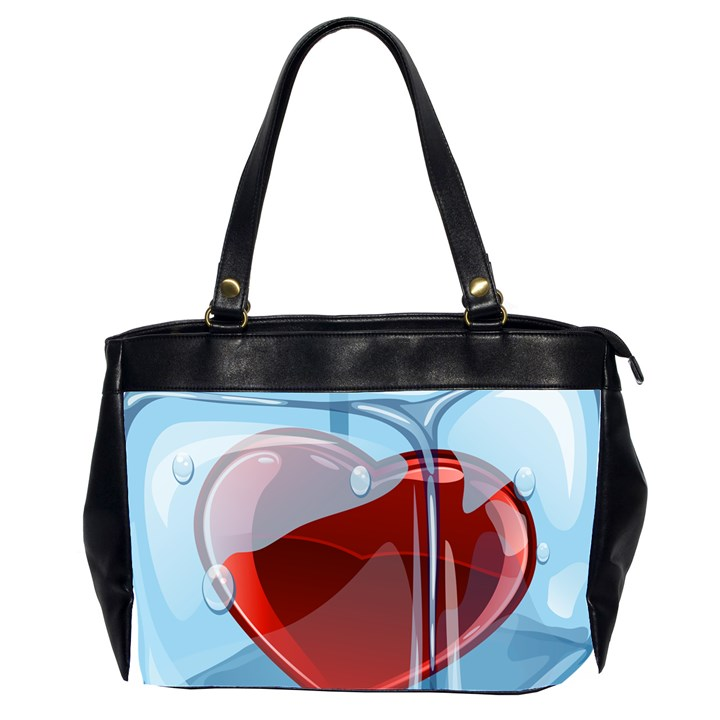 Heart In Ice Cube Office Handbags (2 Sides)