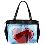 Heart In Ice Cube Office Handbags (2 Sides)  Back