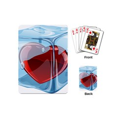 Heart In Ice Cube Playing Cards (mini)  by BangZart