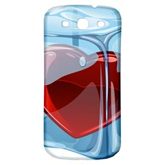 Heart In Ice Cube Samsung Galaxy S3 S Iii Classic Hardshell Back Case by BangZart