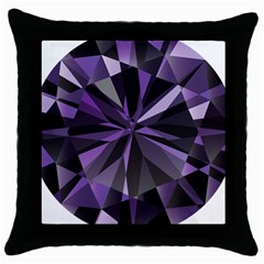 Amethyst Throw Pillow Case (black) by BangZart