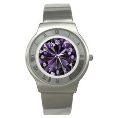 Amethyst Stainless Steel Watch by BangZart