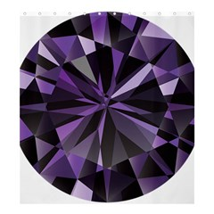 Amethyst Shower Curtain 66  X 72  (large)  by BangZart