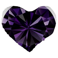 Amethyst Large 19  Premium Heart Shape Cushions by BangZart