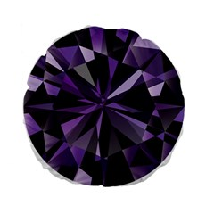 Amethyst Standard 15  Premium Flano Round Cushions by BangZart