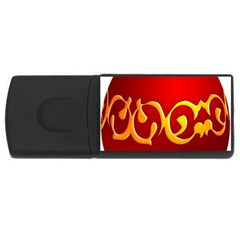 Easter Decorative Red Egg Rectangular Usb Flash Drive by BangZart