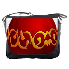 Easter Decorative Red Egg Messenger Bags