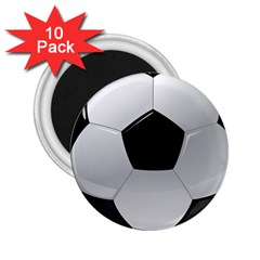 Soccer Ball 2 25  Magnets (10 Pack)