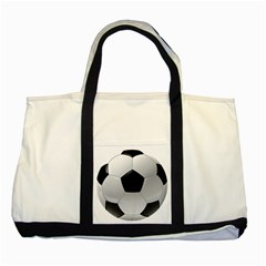 Soccer Ball Two Tone Tote Bag by BangZart