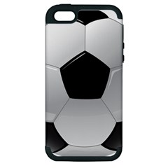 Soccer Ball Apple Iphone 5 Hardshell Case (pc+silicone) by BangZart