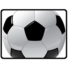 Soccer Ball Double Sided Fleece Blanket (large)  by BangZart