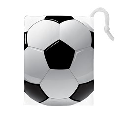Soccer Ball Drawstring Pouches (extra Large) by BangZart