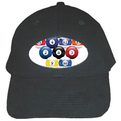 Racked Billiard Pool Balls Black Cap by BangZart