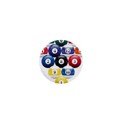 Racked Billiard Pool Balls 1  Mini Buttons