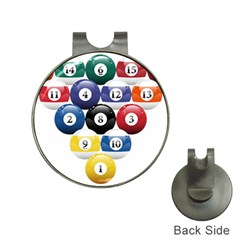 Racked Billiard Pool Balls Hat Clips With Golf Markers by BangZart