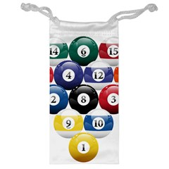 Racked Billiard Pool Balls Jewelry Bag