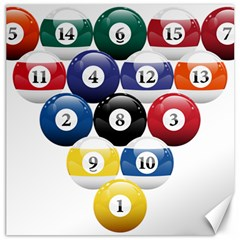 Racked Billiard Pool Balls Canvas 12  X 12   by BangZart
