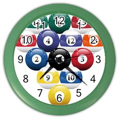 Racked Billiard Pool Balls Color Wall Clocks by BangZart