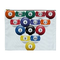 Racked Billiard Pool Balls Cosmetic Bag (xl) by BangZart