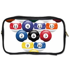 Racked Billiard Pool Balls Toiletries Bags