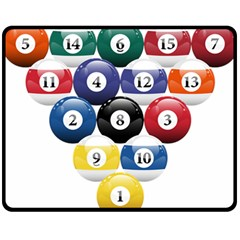 Racked Billiard Pool Balls Fleece Blanket (medium)  by BangZart