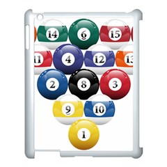 Racked Billiard Pool Balls Apple Ipad 3/4 Case (white) by BangZart