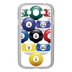 Racked Billiard Pool Balls Samsung Galaxy Grand Duos I9082 Case (white) by BangZart