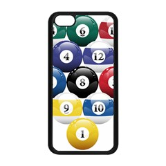 Racked Billiard Pool Balls Apple Iphone 5c Seamless Case (black) by BangZart