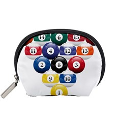 Racked Billiard Pool Balls Accessory Pouches (small)  by BangZart