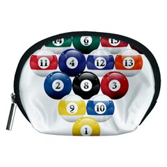 Racked Billiard Pool Balls Accessory Pouches (medium)  by BangZart