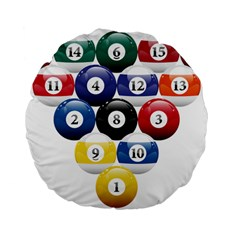 Racked Billiard Pool Balls Standard 15  Premium Flano Round Cushions