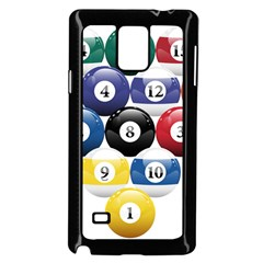 Racked Billiard Pool Balls Samsung Galaxy Note 4 Case (black) by BangZart