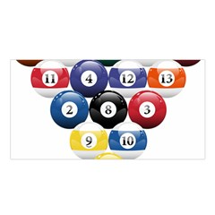 Racked Billiard Pool Balls Satin Shawl by BangZart