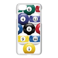 Racked Billiard Pool Balls Apple Iphone 7 Seamless Case (white) by BangZart