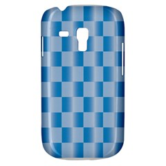 Blue Plaided Pattern Galaxy S3 Mini by paulaoliveiradesign