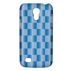Blue Plaided Pattern Galaxy S4 Mini by paulaoliveiradesign