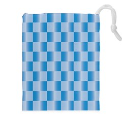 Blue Plaided Pattern Drawstring Pouches (xxl) by paulaoliveiradesign