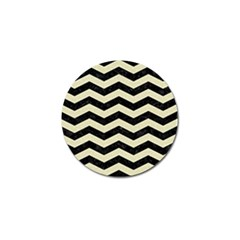 Chevron3 Black Marble & Beige Linen Golf Ball Marker (10 Pack) by trendistuff