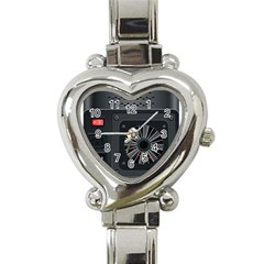 Special Black Power Supply Computer Heart Italian Charm Watch by BangZart