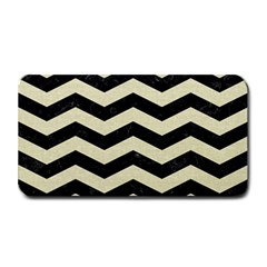 Chevron3 Black Marble & Beige Linen Medium Bar Mats by trendistuff