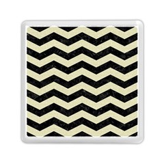 Chevron3 Black Marble & Beige Linen Memory Card Reader (square)  by trendistuff