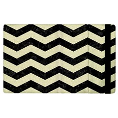 Chevron3 Black Marble & Beige Linen Apple Ipad 3/4 Flip Case by trendistuff