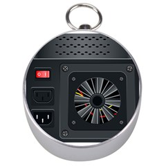 Special Black Power Supply Computer Silver Compasses